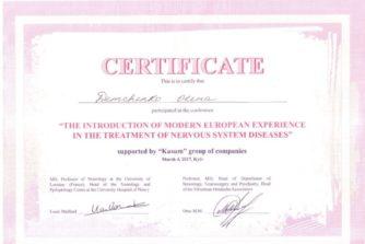 Демченко Елена - сертификат 19