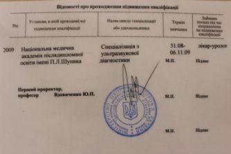 Новицюк Дмитрий Федорович - врач-уролог 5