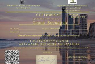 Бегларян Илона сертификат 12