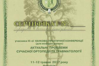 Суворов Василь Леонідович сертифікат