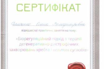 Демченко Елена - сертификат 1