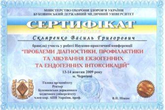скляренко сертификат 1