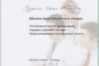 Руденко Елена - сертификат 11