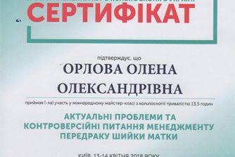 орлова олена олександрівна - сертификат 3
