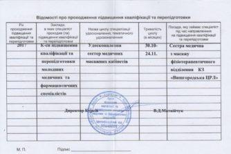 станіслав мартиненко закінчив курси медичних сестер та масажистів
