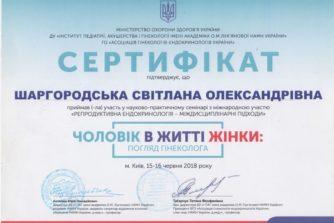 шаргородська світлана олександрівна отримала сертифікат на тему чоловік у житті жінки