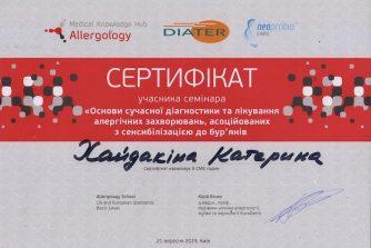 сертификат Хайдакина Екатерина