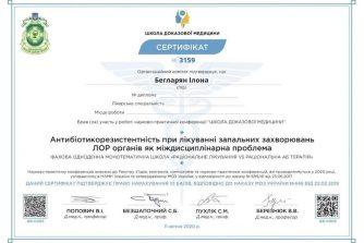 Бегларян Илона сертификат 7