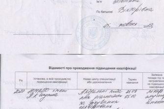 Мирошниченко Тетяна сертификат